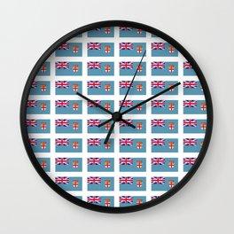 Flag of fiji-Fijian,Viti,फ़िजी,suva,iTaukei,Feejee. Wall Clock