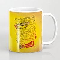 lyrics Mugs featuring Big Bang Theory Lyrics by Nxolab