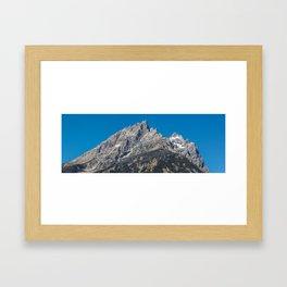 Jenny Lake Mountains Framed Art Print