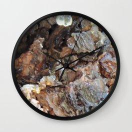 TEXTURES: Weeping Big Cone Pine Bark Wall Clock