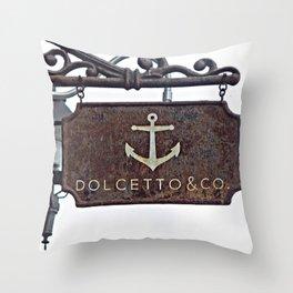 Anchor Sign Throw Pillow
