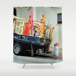 No Parking, Red Zone Shower Curtain