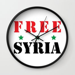 FREE SYRIA Wall Clock