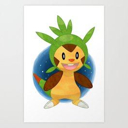Chespin Pokémon Art Print