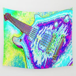 Neon Psychedelic Guitar Wall Tapestry