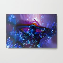 The Invisible Borders-lines Metal Print