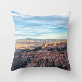 Bryce Canyon with Moon Throw Pillow