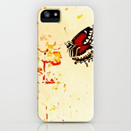 Swallowtail Coming In For A Landing iPhone Case