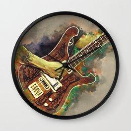 Lemmy's bass guitar Wall Clock