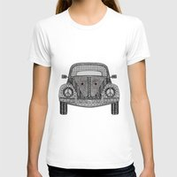 volkswagon T-shirts featuring Tangled VW Bug by Cherry Creative Designs