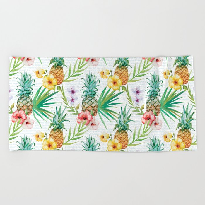 Tropical Summer #13 Beach Towel