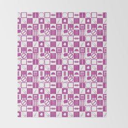 Contraception Pattern (Purple) Throw Blanket