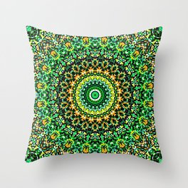 Mosaic Kaleidoscope 1 Throw Pillow