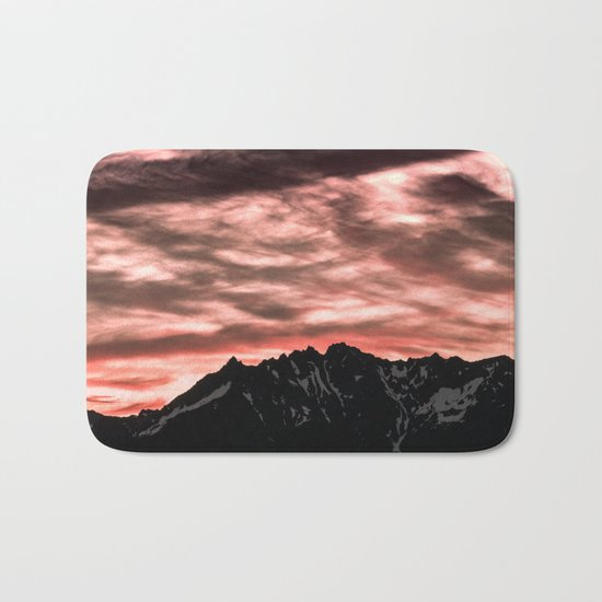 Early Morning Mountains Bath Mat