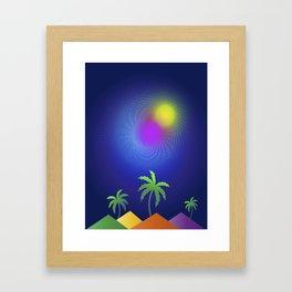 Magenta Beach Framed Art Print