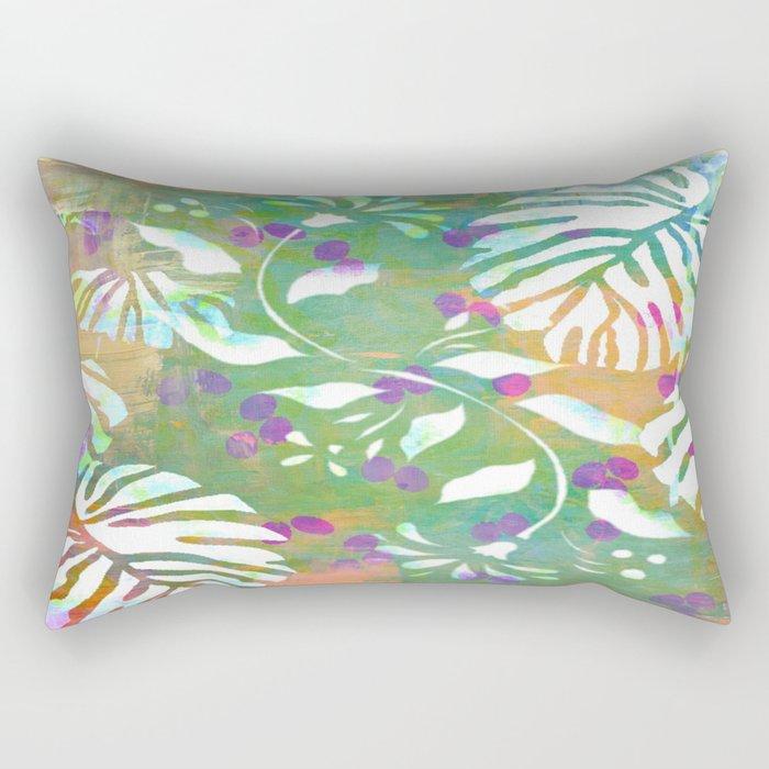 Tropical Leaf Abstract Rectangular Pillow