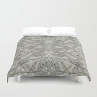 snowflake Duvet Covers featuring Snowflake  by Project M