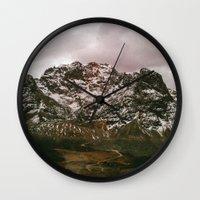 peru Wall Clocks featuring Mountain -  Peru by Thiago Albuquerque