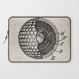 Golf Ball Patent - Golfer Art - Antique Laptop Sleeve