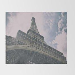 Eiffel Tower in Paris, France. Landmark in France Throw Blanket