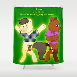 Psych. Pony. Shawn and Gus ponified Shower Curtain