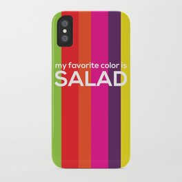 My favorite color is salad iPhone Case