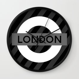 Black and White London Wall Clock