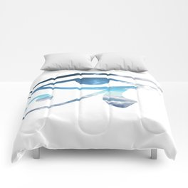 Eye of Horus Sky Background Comforters