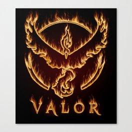 Valorous Flames Canvas Print