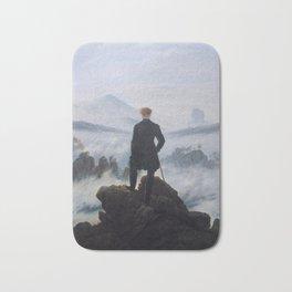 Wanderer above the Sea of Fog Painting by Caspar David Friedrich Bath Mat