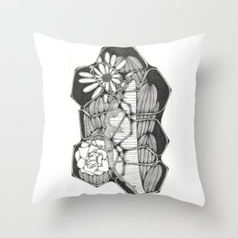 Flower Puzzle Throw Pillow