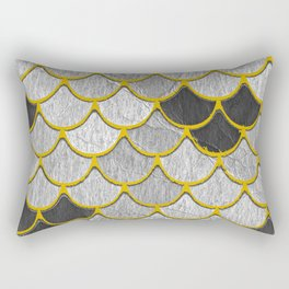 Dragon Scales with Yellow Outlines Rectangular Pillow