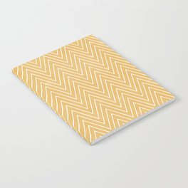 Mustard Chevron Notebook