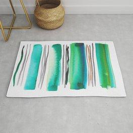 9  |181026 Lines & Color Block | Watercolor Abstract | Modern Watercolor Art Rug
