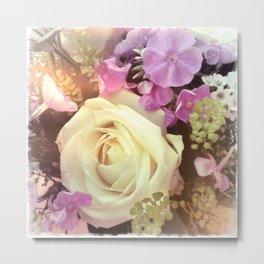 ROMANCE #1 - White Rose Metal Print