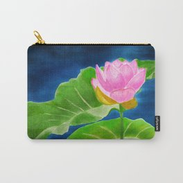 Pink Lotus Beauty Carry-All Pouch