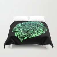zentangle Duvet Covers featuring Zentangle by Riaora Creations