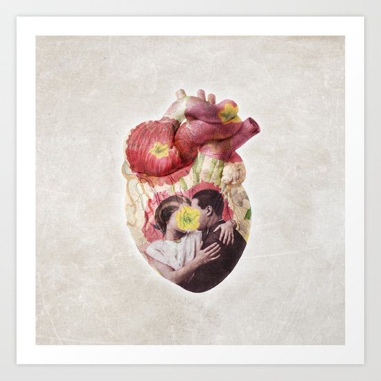 You Are in My Heart - floral version Art Print
