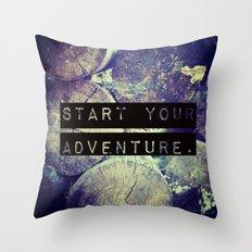 Start Your Adventure Throw Pillow