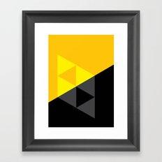 Light and Dark Triforce Framed Art Print