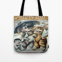 shopping Tote Bags featuring Shopping by Frankie Cat