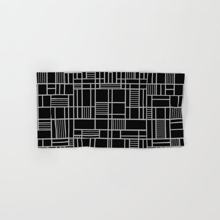 Map Lines Silver Hand & Bath Towel