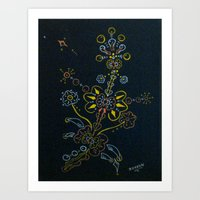 weed Art Prints featuring Weed by by Steven