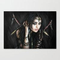 gypsy Canvas Prints featuring Gypsy by Justin Gedak