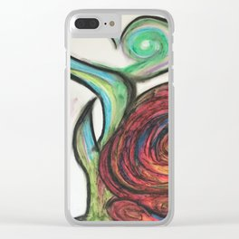 Swirly Rose Clear iPhone Case