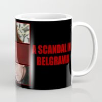 scandal Mugs featuring A Scandal in Belgravia by Alessia Pelonzi