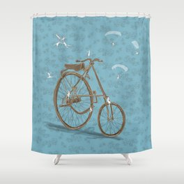 From up there Shower Curtain