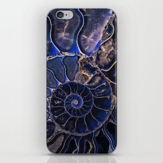 Earth Treasures - Ammonite in blue tones by jaroslawblaminsky