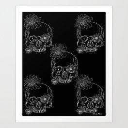 Mum Skulls Art Print