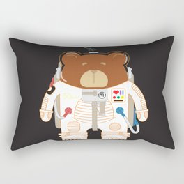 Oso Cosmonauta (Cosmonaute Bear) Rectangular Pillow